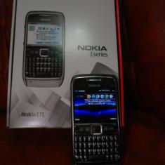 Telefon mobil Nokia E71, Gri, Neblocat - Nokia E71, pachet complet, in stare buna de functionare, 270 lei
