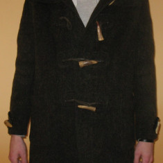 Palton de Iarna Clasic / Eegant / Simplu / Frumos ( Masuri : Lungime maneci = 52 cm / Lungime totala = 92 cm / Circumferinta =114 cm ) MADE IN ENGLAND - Palton barbati, Culoare: Verde, Lana
