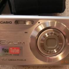 Aparat / Camera foto digitala Casio Exilim, model EX-Z77, perfecta stare - Aparat Foto compact Casio, Ultracompact, 8 Mpx, 3x, 2.7 inch