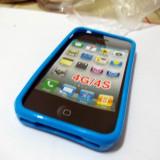 Vand husa silicon TPU Iphone 4/4S culoare albastru inchis(material foarte bun)