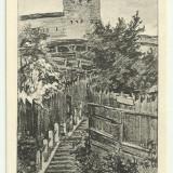 Sighisoara 1 - desen de Trude Schullerus, interbelica, necirculata - Carti Postale Romania dupa 1918, Fotografie