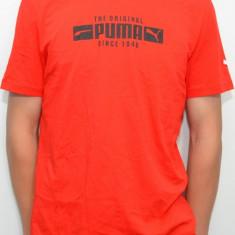 Tricou Puma 814825, ORIGINAL, bumbac, rosu, marimi: XS, S, M - Tricou barbati Old Navy, Maneca scurta