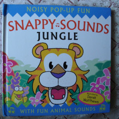 Carte educativa copii cartonata noisy pop-up book Snappy Sounds Jungle sunete animale jungla story ilustrata - Carte personalizata