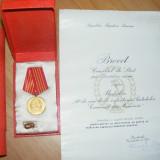 BREVET, CONSILIUL DE STAT, MEDALIA 40 ANI DE LA INFIINTAREA PARTIDULUI COMUNIST DIN ROMANIA,, insigna CAMPION AL COLECTIVULUI SPORTIV - Ordin/ Decoratie