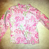 Bluza flanelata fete 2-3 ani, bumbac, usor folosita, ca noua, Culoare: Roz