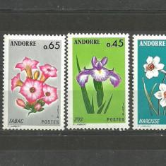 ANDORA 1974 - FLORI NARCISE, IRISI, TABAC - SERIE NESTAMPILATA L305 - Timbre straine, Natura