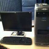 "Sisteme desktop cu monitor, AMD Athlon 64, 4 GB, 500-999 GB, AM2, HP - Computer + Monitor HP 19"" wide (grafica GeForce 8600GT) pentru proiecte grafice si jocuri"