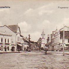 Romania, Gheorgheni, carte postala necirculata aprox 1917: Strada Fogarassy Mihaly, Gheorghieni, Fotografie