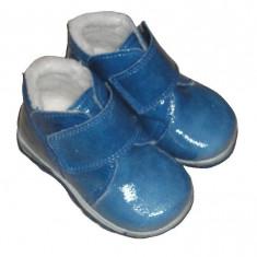 Ghetute din piele lacuita - Ghete copii, Marime: 18, 19, 20, 21, 22, 23, 24, Culoare: Albastru, Unisex, Bleu