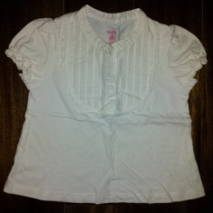 Bluza alba din bumbac de la Baby Gap, fete 18-24 luni, ca noua