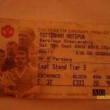 Bilet de meci Manchester United - Tottenham hotspur (9,Sept 2006)