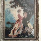 Goblen inramat (rama lemn+sticla) - Tapiterie Goblen