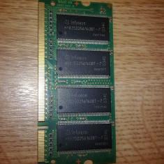 Memorie laptop - Memorie RAM laptop Infineon, DDR, 256 MB