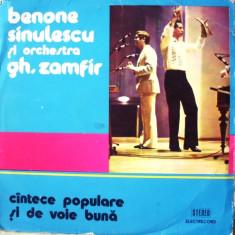 Muzica Populara - BENONE SINULESCU SI ORCHESTRA GH. ZAMFIR (DISC VINIL)