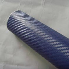 Folii Auto tuning - Folie carbon 3d de culoare albastra siliconica