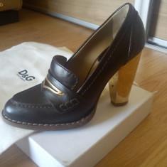 Pantofi D&G - Pantof dama D&G, Marime: 36, Culoare: Maro, Maro