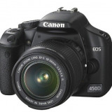 Canon 450D impecabil folosit rar + obiectiv 18-55 f3, 5-5.6 + obiectiv 50mm f1.8 + 2 baterii + 2 carduri + geanta - DSLR Canon, Kit (cu obiectiv)