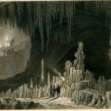 Pestera din insula Paros (Cyclade) - Grecia - Tipogravura - Meyers Universum 1833-1861 - Pictor strain
