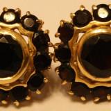 Cercei aur - Cercei superbi aur cu granat