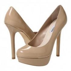 Pantofi Steve Madden noi, piele lucioasa crem, marimea 37 - Pantof dama