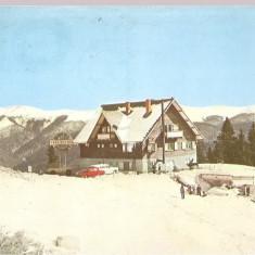 Carti Postale Romania dupa 1918, Circulata, Fotografie - CPI (B2476) SINAIA. COTA 1300. CABANA BRADET, EDITURA OSETCM, CIRCULATA, TIMBRU IMPRIMAT, STAMPILE