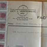 Factura, Prima Fabrica Romana de Stampile, OCT .L . VESTEMEAN, SIBIU - Pasaport/Document, Romania 1900 - 1950