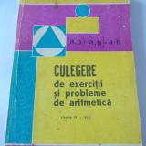 CULEGERE DE EXERCITII SI PROBLEME DE ARITMETICA CLASELE IV-VIII - PETRE TELINOIU . - Culegere Matematica