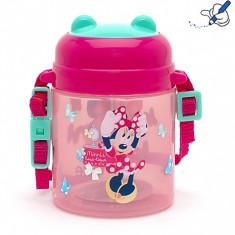 Bidon apa cu pai si curea Minnie Mouse by Disney