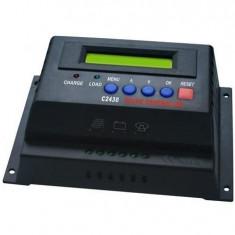 REGULATOR SOLAR. Controler solar. Regulator de incarcare 12v/24v -60A. Afisaj. Panouri fotovoltaice