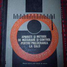 Carte tehnica - Aparate si metode de masurare si control pentru prelucrarea la cald Todea Gh