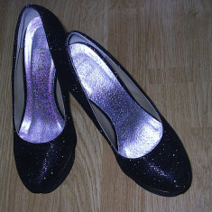 Pantofi negri eleganti - Pantof dama Benvenuti, Marime: 38.5, Culoare: Negru, Negru