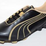 Ghete fotbal gazon Puma 10230301, ORIGINALE, negru, auriu