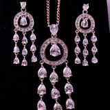 Set Lantisor Colier si Cercei din ARGINT 925 cu ZIRCONIU CZ 6.3 Grame - pret Final MOKAZIE - Set bijuterii argint