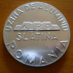 Medalie Uzina de Aluminiu ALRO Slatina, 1965, aluminiu, diametru 6 cm - Jubiliare