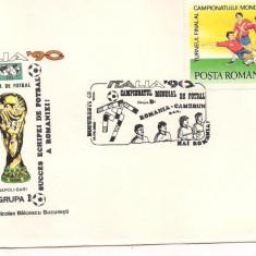 Plic omagial L.P.1237 -Turneul final C.M. de Fotbal Italia 90