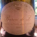 Vin de colectie Baron de L 1988 Ladoucette chateau Nozet Pouilly Fumé, Europa