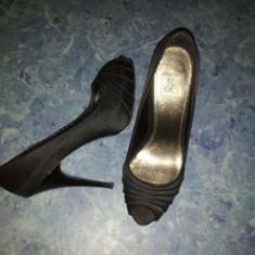 Patofi ZARA TRF orginali, masura 36 - Sandale dama Zara, Culoare: Negru, Negru