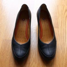 Pantofi dama Clarks, Marime: 37, Negru - PANTOFI PIELE NATURALA MARCA CLARKS MARIME 37