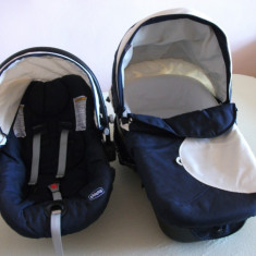 LANDOU si SCOICA COSULET MASINA, CHICCO Enjoy Fun - Carucior copii Landou Chicco, 0-6 luni, Albastru