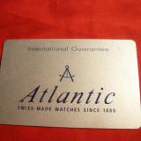 Cartela Garantie Internat. Ceas Atlantic - Piese Ceas