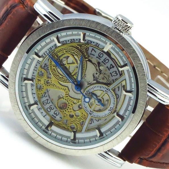 Часы Наручные Романов в Светогорске. Мужчины механические часы круглый большой набор скелет часы аналоговый римская