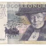 Bancnota Straine, Europa - SUEDIA 20 COROANE 1991-92 F
