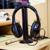 Casti PC, Casti cu microfon, Wireless - Căști fără fir MH2001 5 - in - 1 Hi - Fi S - XBS w / FM