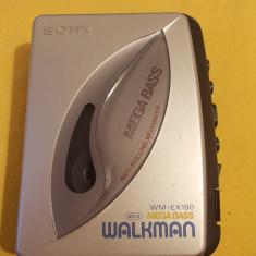 Walkman Cassette Player SONY WM-EX190, AVLS MEGA BASS - Casetofon
