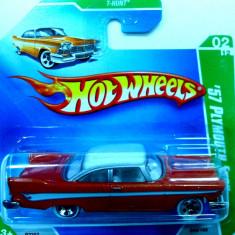 HOT WHEELS -TREASURE HUNT -'57 PLYMOUTH FURY ++2501 LICITATII !! - Macheta auto Hot Wheels, 1:64