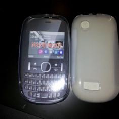 CEL MAI MIC PRET !! HUSA SILICON NOKIA 603 + 1* FOLIE BONUS - TRANSPARENTA - Husa Telefon