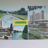 C.P.ORADEA COLAJ DE 4 IMAGINI - Carti Postale Romania dupa 1918, Circulata