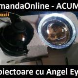 NOU !! Proiector Cu Angel - Eyes - Ideal Logan - Sandero - Ducato      -- Numai 69 lei setul !!  ---- CADOU ODORIZANT STICLUTA ----