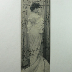 CURIOZITATE CARTOFILA - CARTE POSTALA ILUSTRATA CLASICA ( LILIPUT ) - CIRCULATA ANUL 1904 LA MAROS UJVAR ( OCNA MURES ) - DIMENS. 14 X 4 CM