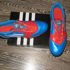 Ghete fotbal Adidas, 43 1/3, Bleu, Barbati - Adidas Fotbal ADIDAS F50